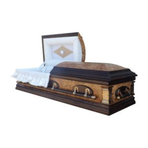 Arizona Dome Casket Cream Burl Finish