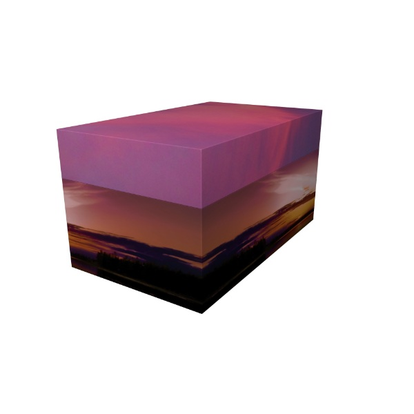Cremation Urn - Purple Sky Ash Casket