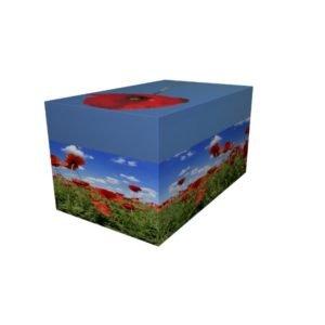 Cremation Urn - Poppy Ash Casket