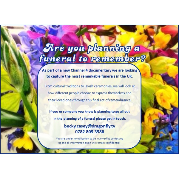 Interested in Having Your Funeral Featured on Television