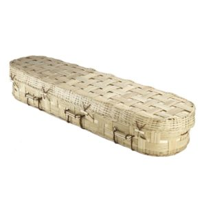 Bamboo Lattice Round Coffin