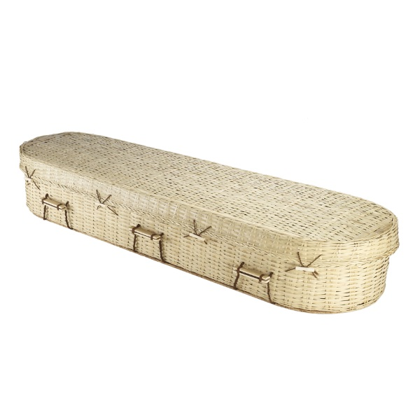 Bamboo Round Coffin