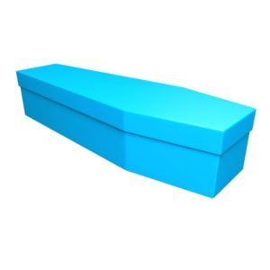 Aqua Blue Cardboard Coffin - Price Reduced!