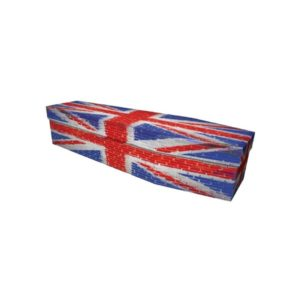 Union Jack Brick  Cardboard Coffin