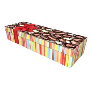 Chocolate Box Cardboard Coffin Casket