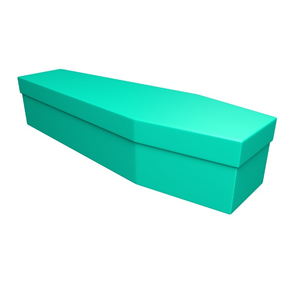 Green Cardboard Coffin