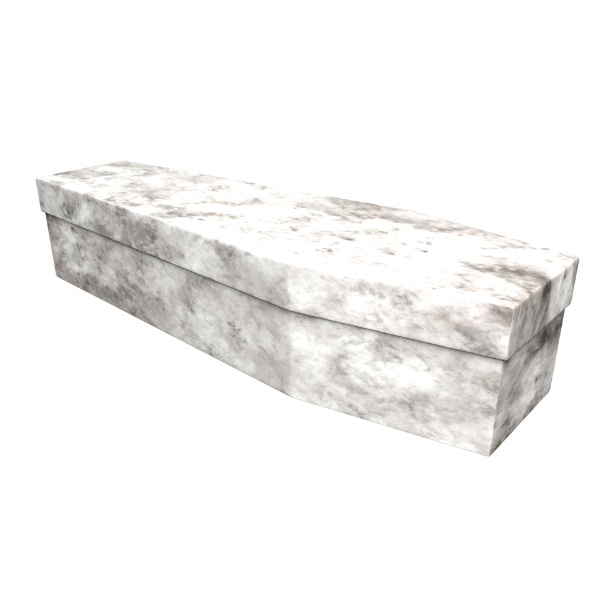 Marble Effect Cardboard Coffin - Price Reduced!