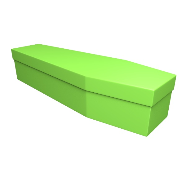 Lime Green Cardboard Coffin - Price Reduced!