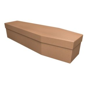 Cardboard Manilla Coffin - Price Reduced!