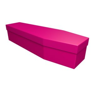 Pink Cardboard Coffin - Price Reduced!