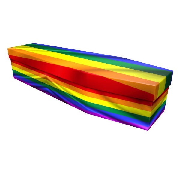 Rainbow Cardboard Coffin - Price Reduced!