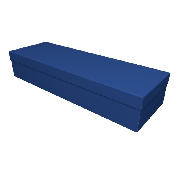 Royal Blue Cardboard Coffin Casket - Price Reduced!