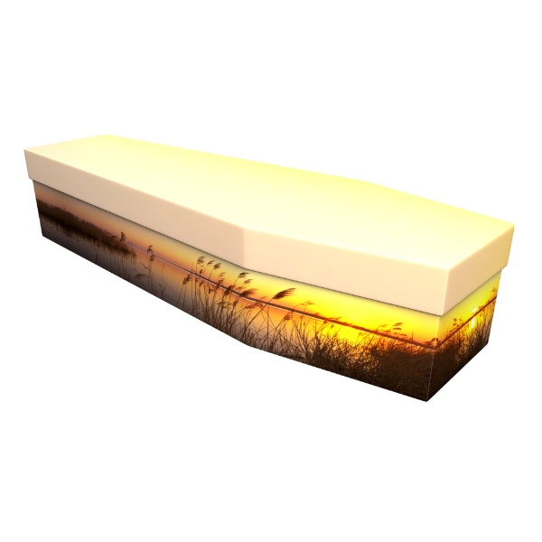 Spring Sunset Cardboard Coffin - Price Reduced!