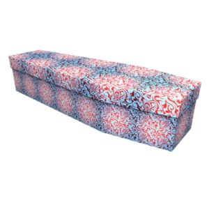 Tribal Print Cardboard Coffin - Price Reduced!