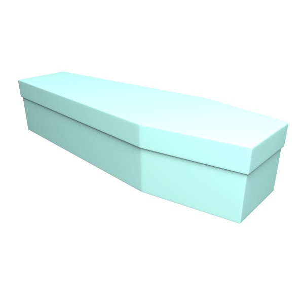 Ice Blue Cardboard Coffin - Price Reduced!