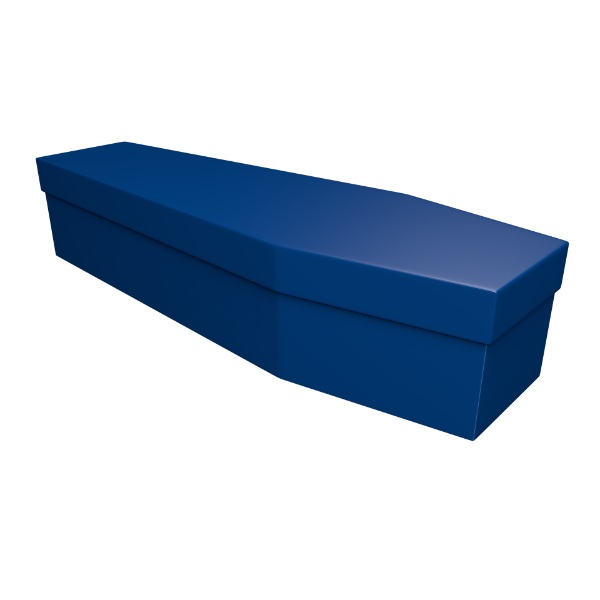 Royal Blue Cardboard Coffin - Price Reduced!