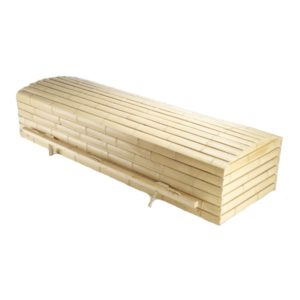 Pine and Bamboo Coffin Casket - Price Reduced!