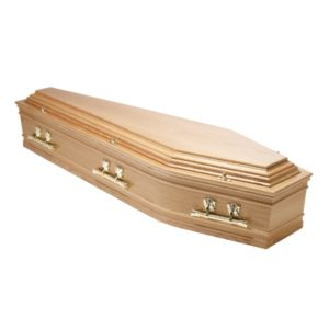 Traditional High raised Lid Coffin