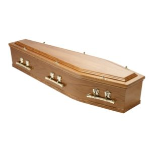 Traditional Raised Lid Coffin