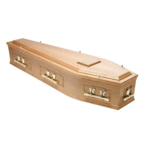 Traditional Raised Lid and Panels coffin