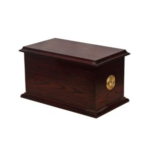 Cremation Urn - Traditional - Dark Oak