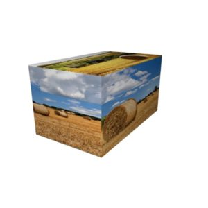 Cremation Urn - Straw Countryside Ash Casket