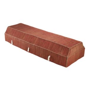 Fabric Coffin with Red Banana Leaf Cover