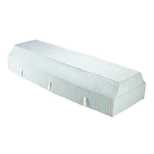 Fabric Coffin with Light Blue Fragrant Root Cover
