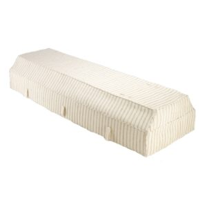 Fabric Coffin with Cream Fragrant Root Cover