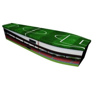Football Printed Wooden Coffin