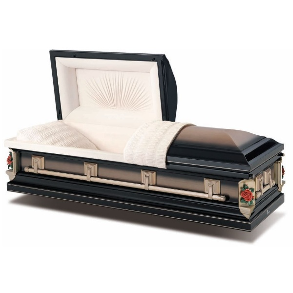 Golden Midnight Brushed Steel American Casket Coffin