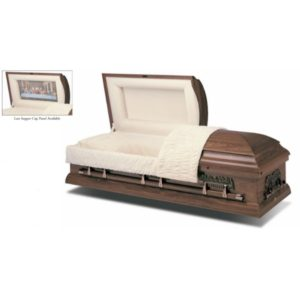 Last Supper Hardwood American Casket coffin