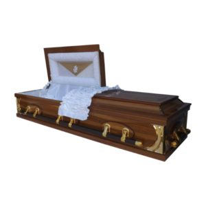 Half View Coffin Casket