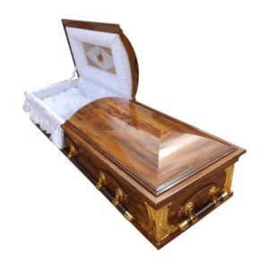 Mini Dome Casket in Ironwood finish