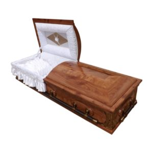 Mini Dome Casket in Redwood finish