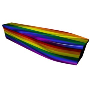 Rainbow Printed Wooden Coffin