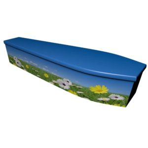 Summer Scene Printed Wooden Coffin