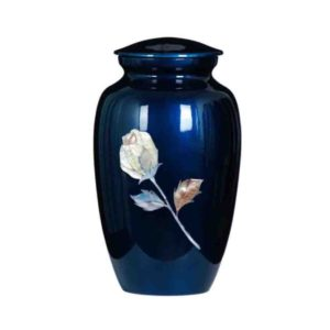 Cremation Urn - Blue Rose