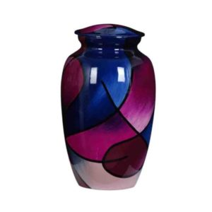 Cremation Urn - Purple and Blue