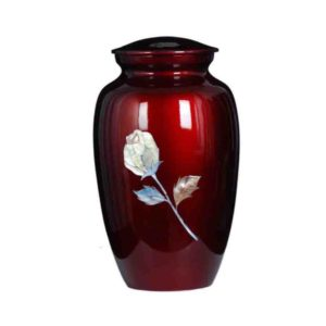 Cremation Urn - Red Rose