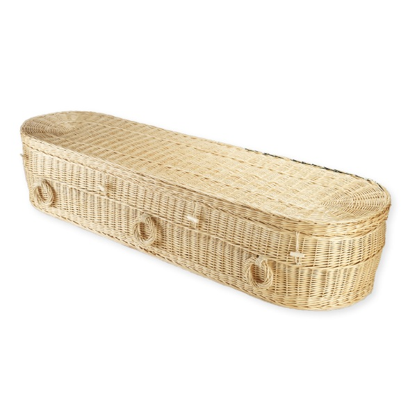 Willow Rounded Coffin - Natural