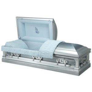 Blue Rise - Steel American Casket Coffin