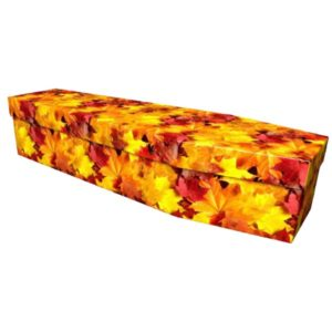 Autumn Leaves Cardboard Coffin