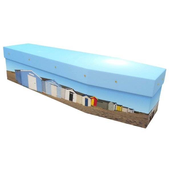 Beach Huts Cardboard Coffin