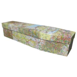 Ordanance Survey Map Cardboard Coffin