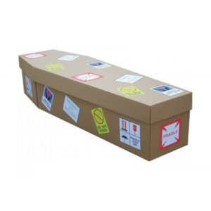 Fragile Goods Cardboard Coffin