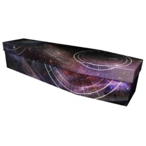 Galaxy Cardboard Coffin