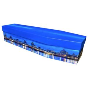 London Skyline Cardboard Coffin