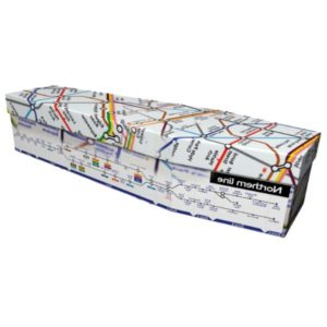 London Underground Cardboard Coffin