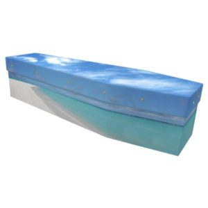 Maldives beach Cardboard Coffin